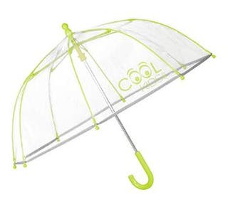 Paraguas Transparente VERDE- Perletti Cool Kids-