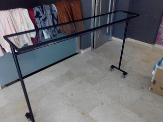 mueble expositor perchero
