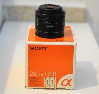 Objetivo Sony 28mm F2,8 Como nuevo