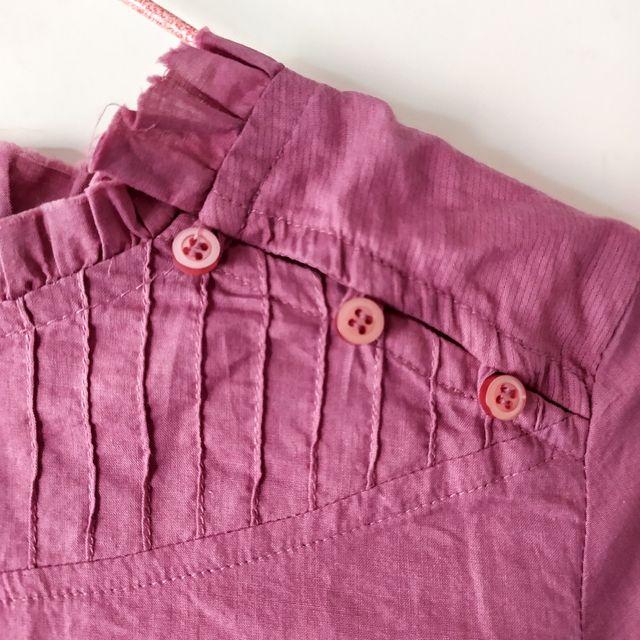 Camisa elegante malva para niña