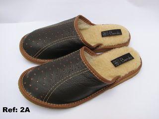 Zapatillas de PIEL NATURAL 100% + LANA