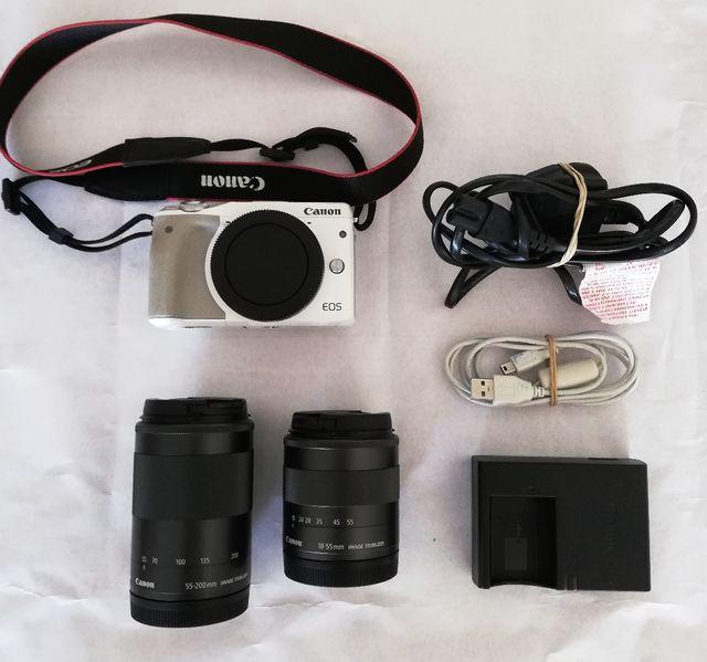 camara canon eos m3 + lente