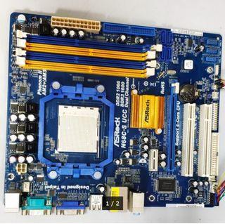 PB AM3 ASROCK N68C-S UCC + PROCESADOR