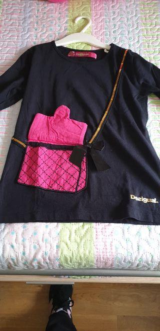 Camiseta desigual niña talla 9-10