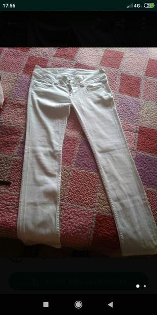 Vaqueros blancos Pepe Jeans chica