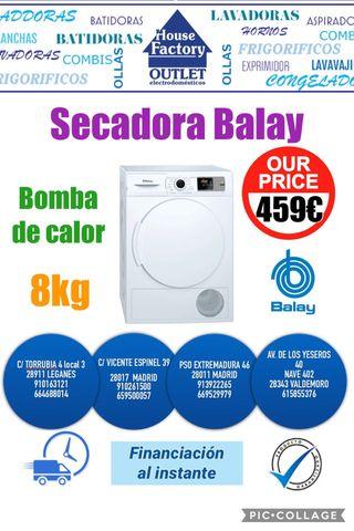 Secadora Balay nueva con bomba de calor