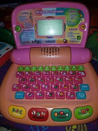 juguetes ordenador tablet y piano