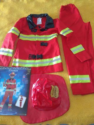 disfraz bombero niño 4-5 años