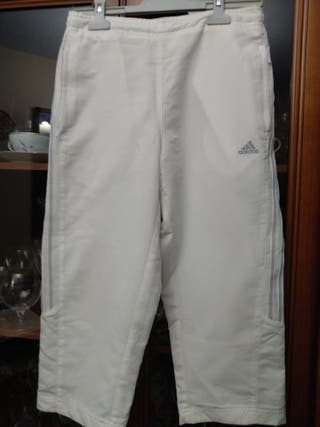 PANTALON CHANDAL ADIDAS BLANCO