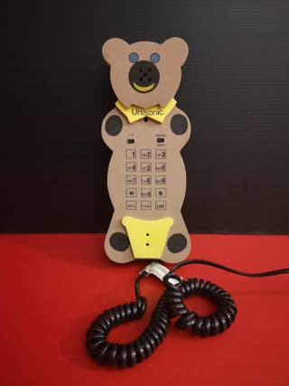 Original Telefono fijo oso osito goma eva