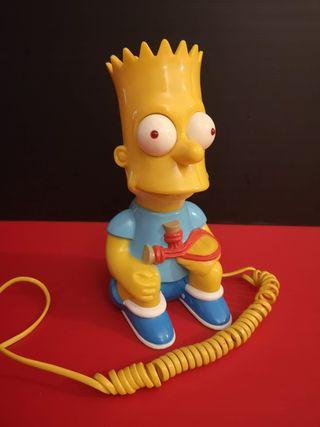 Antiguo Teléfono fijo forma Bart Simpson