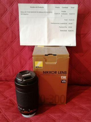 objetivo Nikon 70 - 300 DX VR SIN Estabilizador