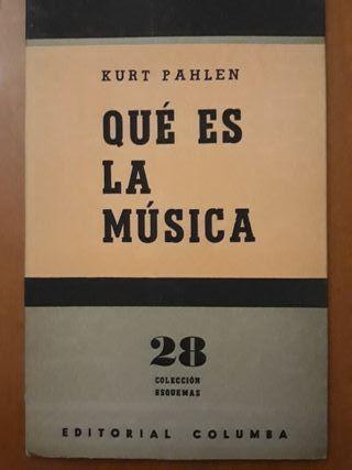 'Qué es la música', Kurt Pahlen