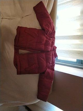 chaqueton rojo sin capucha 3 años