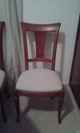 (Silla a 45 €) 6 sillas de comedor