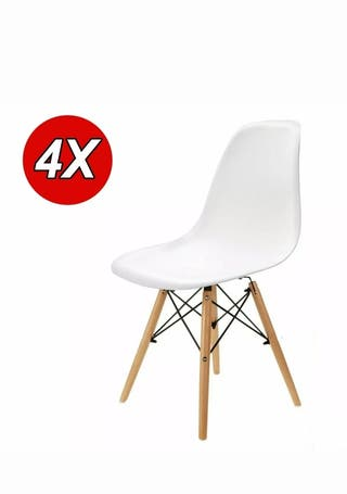 Pack 4 sillas comedor diseño nórdico