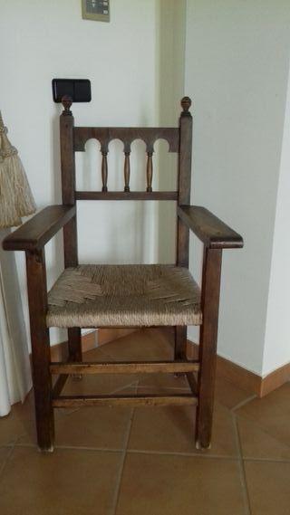 silla rústica 100% madera natural