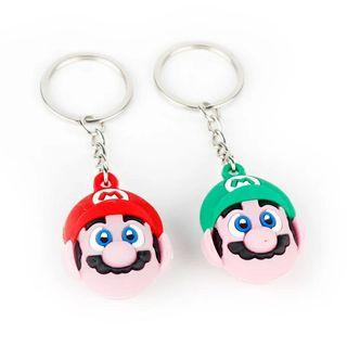 Llaveros Mario y Luigi