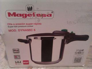 -Olla express a presion MAGEFESA acero (6 litros)