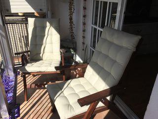 2 Sillas de jardín plegables y reclinables