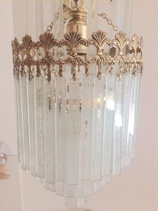 Lámpara de techo retro cristal