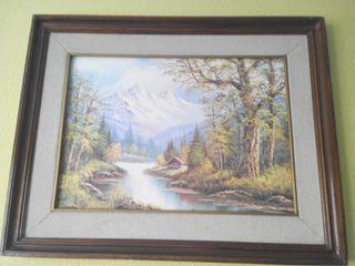 Cuadro y lámina de paisaje de tamaño 86cm x 68cm