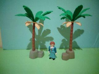 playmobil lote Belén palmeras