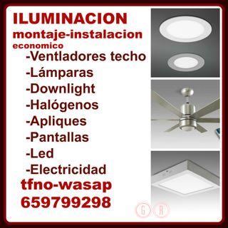 LAMPARAS E ILUMINACION-MONTAJE