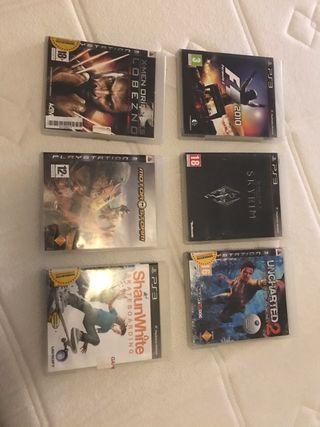 Mando y juegos de PS3