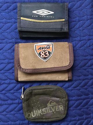 Conjunto de 2 carteras y un monedero