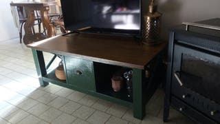 mueble TV madera antiguo colonial