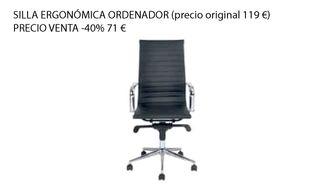 Silla escritorio El Corte Inglés -40% NUEVO