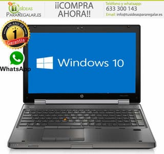 Portátil Hp EliteBook 8560W, i5 / SSD / 8Gb / Gráf