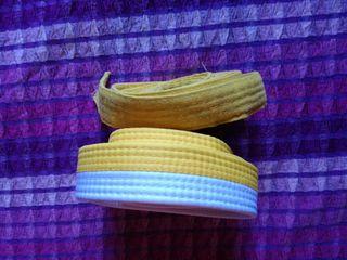 cinturon judo o karate amarillo/blanco o amarillo