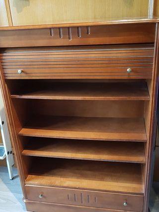 mueble librería antiguo de madera