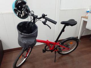 bicicleta plegable tilt 120 roja