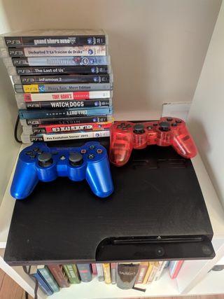 PS3 2 mandos y juegos