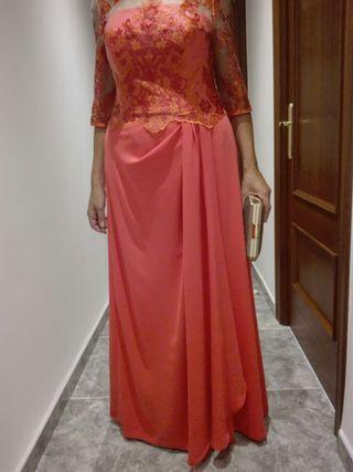 Vestido boda coral talla 44 46
