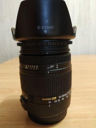 Objetivo Sigma 18-250 canon