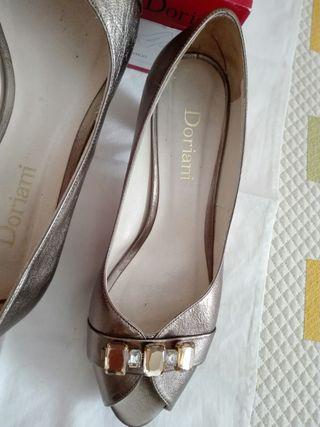Zapatos boda bronce Alicia Novias talla 40