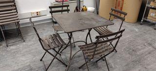 mesas y sillas de terraza/jardin