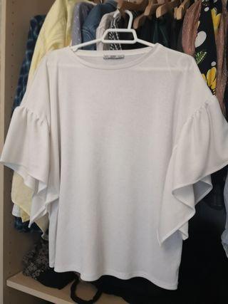 blusa Zara m blanca