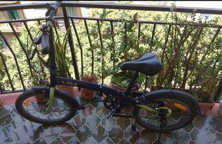 Bici plegable bwin decatlon