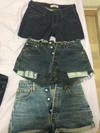 Pantalones Levis cortos