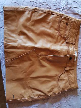 minifalda 100% cuero Pepe Jeans nueva