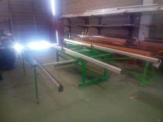 banco de montaje carpinteria aluminio