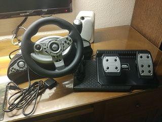 Volante y pedales PS2
