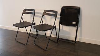 3 sillas plegables de ikea.