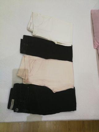 4 Pantalones talla 34