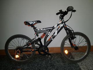 bicicleta de montaña de 20 pulgadas